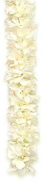 Triple White Ginger Orchid Lei  - Hawaiian Leis